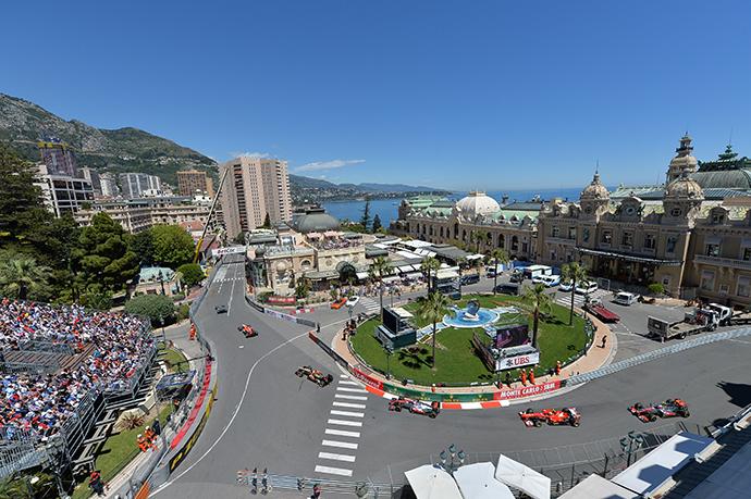 La place du Casino durant le Grand Prix de Monaco