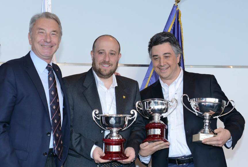 2 COUPES DE L'AUTOMOBILE CLUB DE MONACO, Remises par Monsieur Michel FERRY, Commissaire Général de l'Automobile Club de Monaco