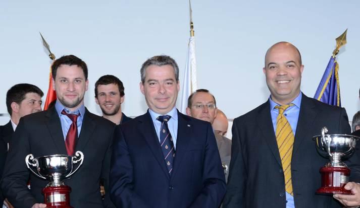2 COUPES DE L'AUTOMOBILE CLUB DE MONACO, Remises par Monsieur Christophe ALLGEYER, Directeur d'Epreuve