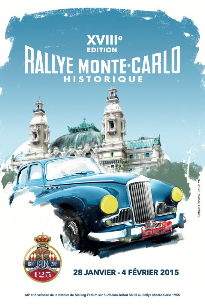 Affiche Rallye Monte-Carlo Historique 2015