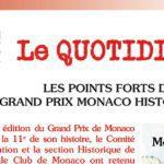 Le Quotidien du Grand Prix Historique 2018