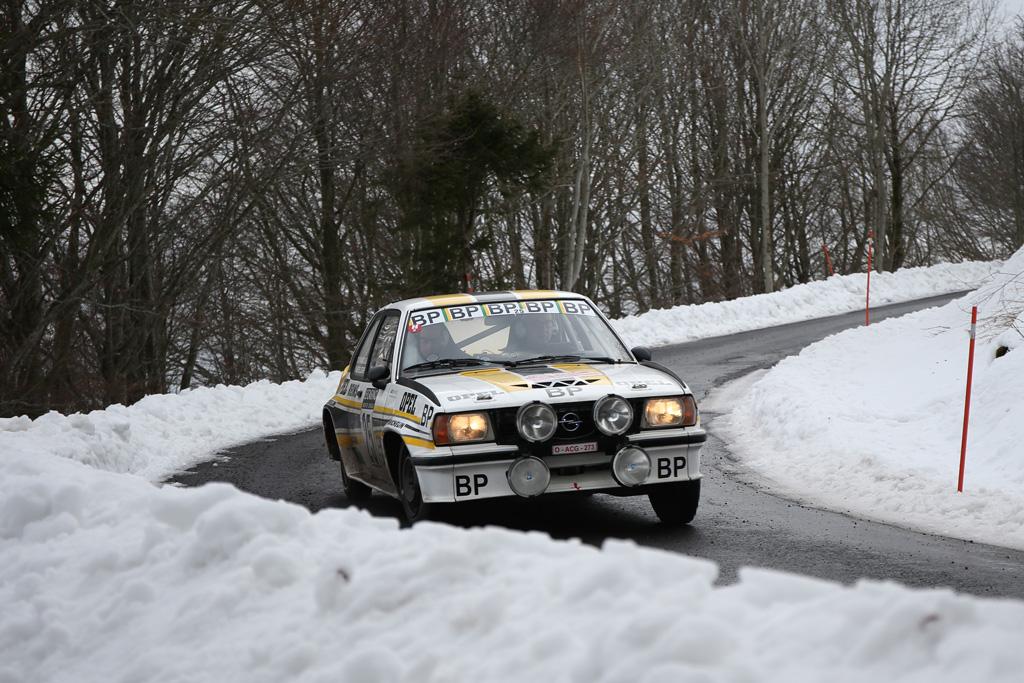 25--Rallye-Monte-Carlo-Historique-2017-(JL)-8  Michel Decremer / Yannick Albert sur Opel Ascona 2000, leader après l'étape commune 1ère partie © Jo Lillini