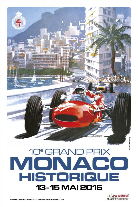 Affiche Grand Prix de Monaco Historique 2016