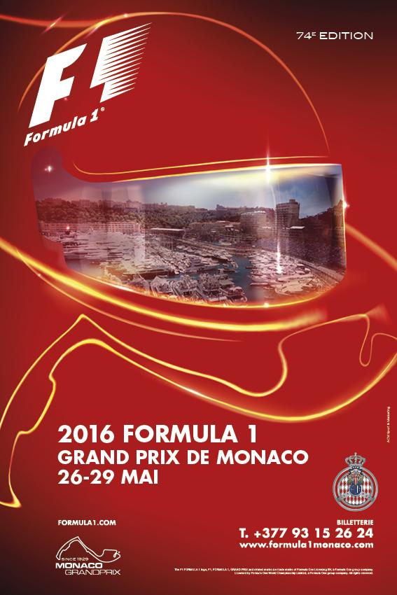 Affiche Grand Prix de Monaco F1 2016