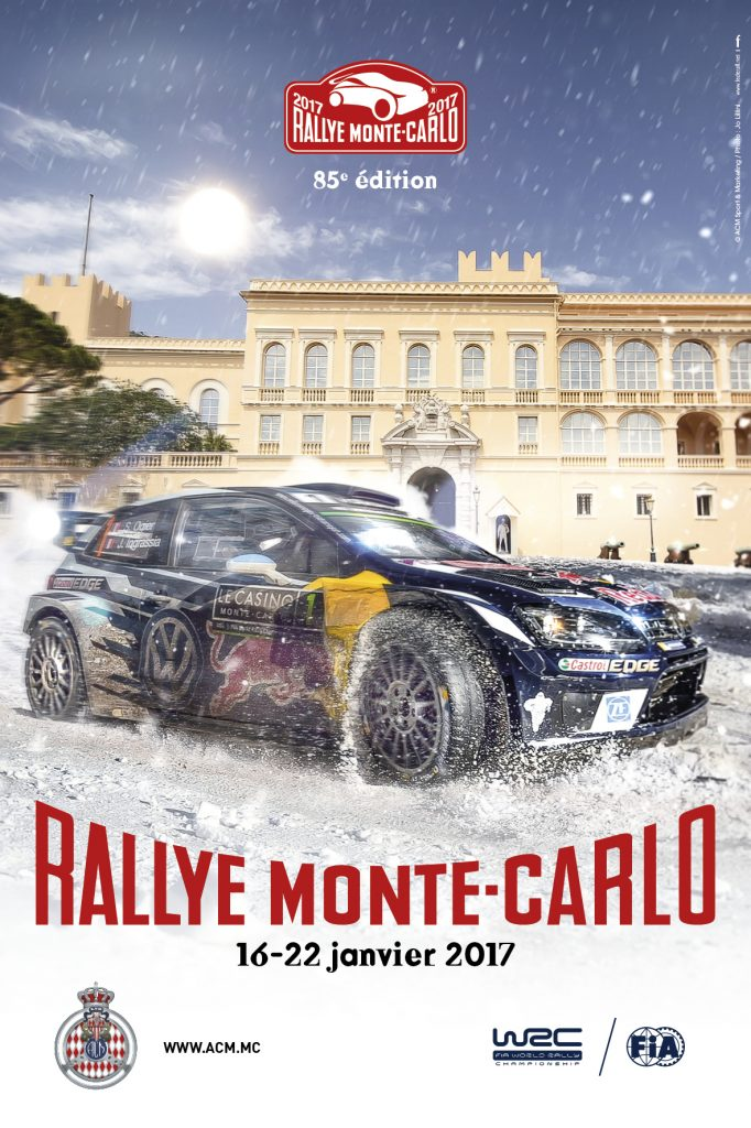 Affiche Rallye Monte-Carlo 2017