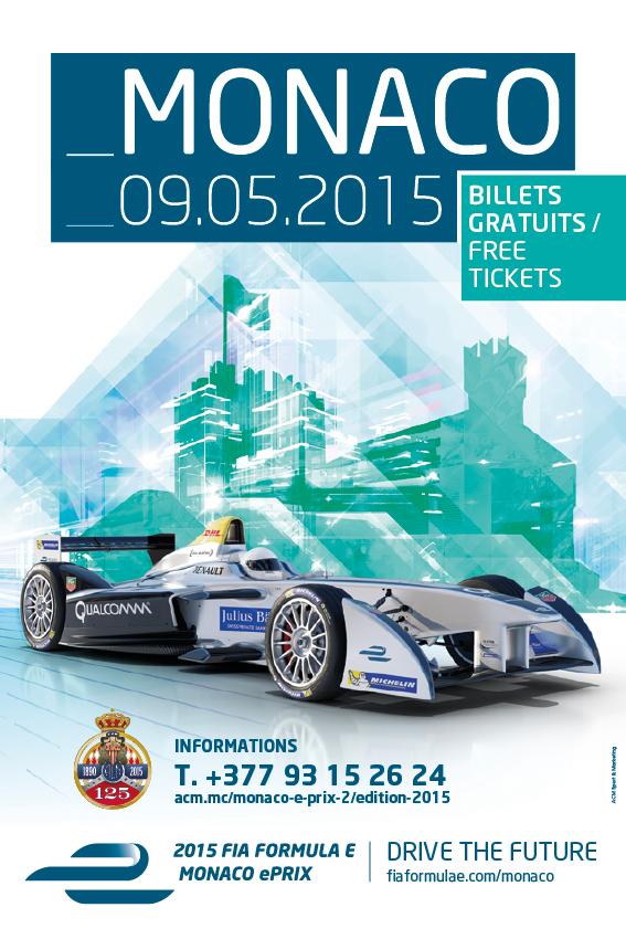 Affiche Monaco E-Prix 2015