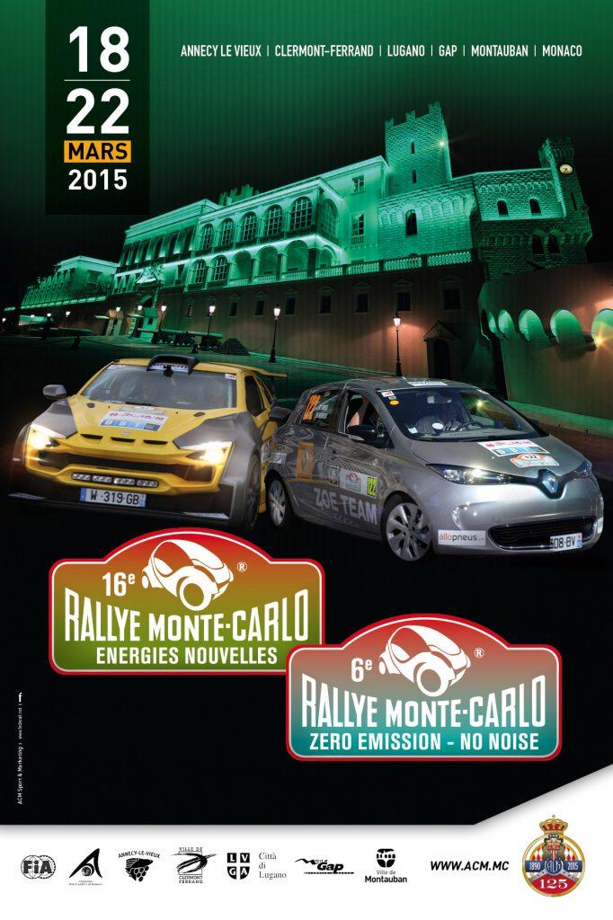 Affiche E-Rallye Monte-Carlo 2015