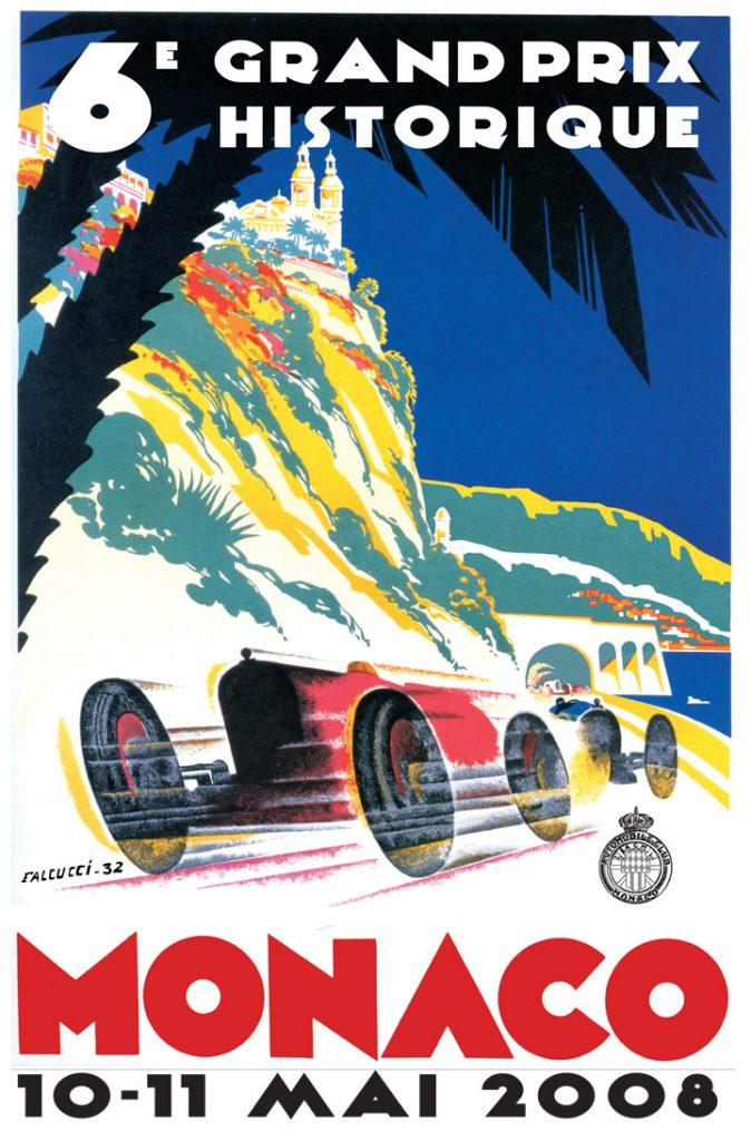 Affiche Grand Prix de Monaco Historique 2008