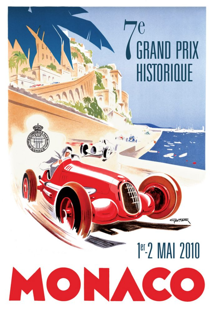 Affiche Grand Prix de Monaco Historique 2010