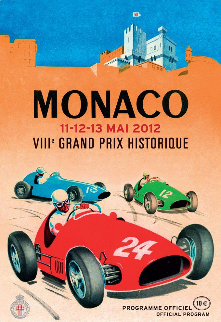 Affiche Grand Prix de Monaco Historique 2012