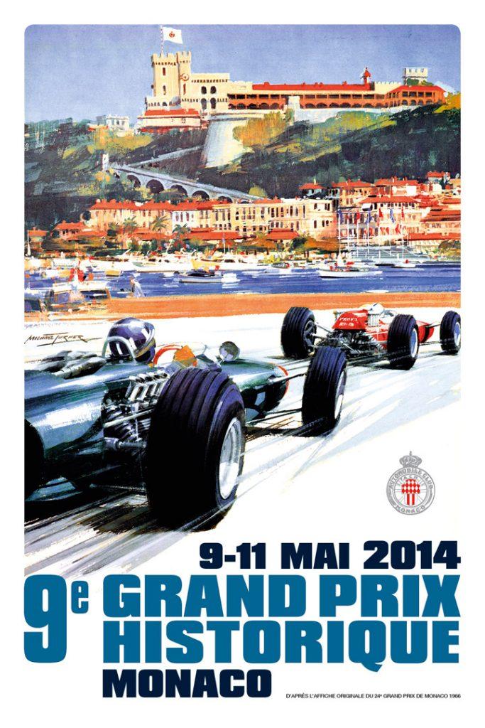 Affiche Grand Prix de Monaco Historique 2014