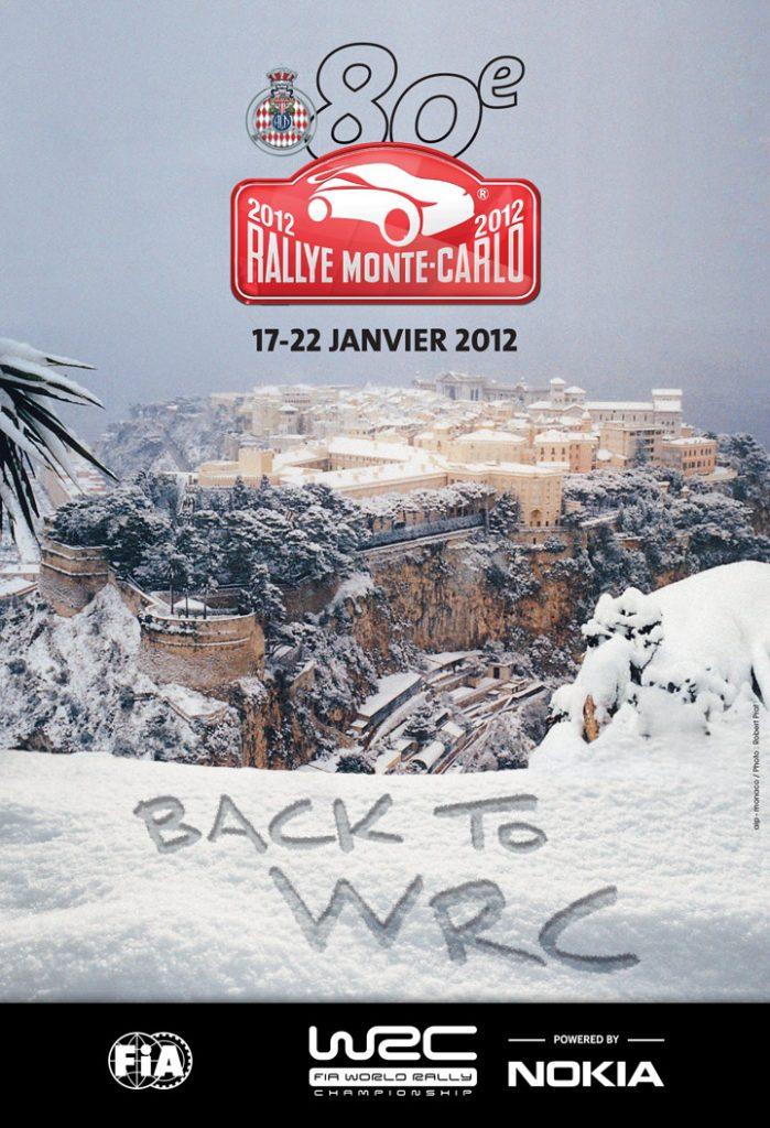 Affiche Rallye Monte-Carlo 2012