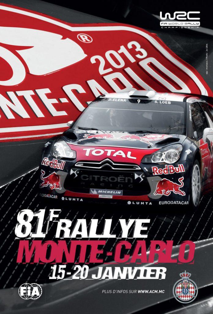 Affiche Rallye Monte-Carlo 2013