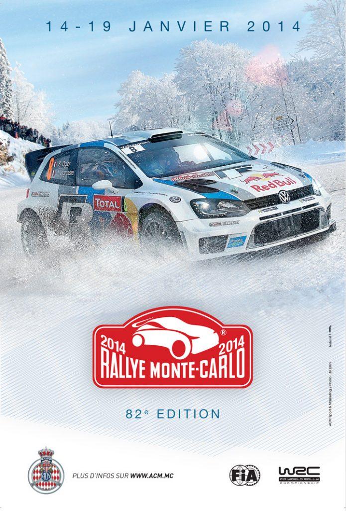 Affiche Rallye Monte-Carlo 2014