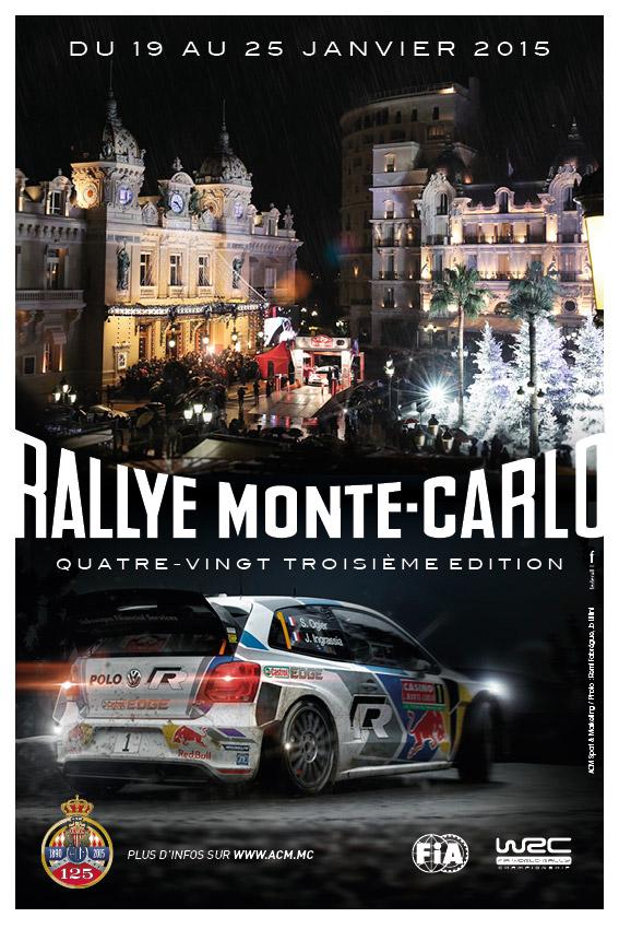 Affiche Rallye Monte-Carlo 2015