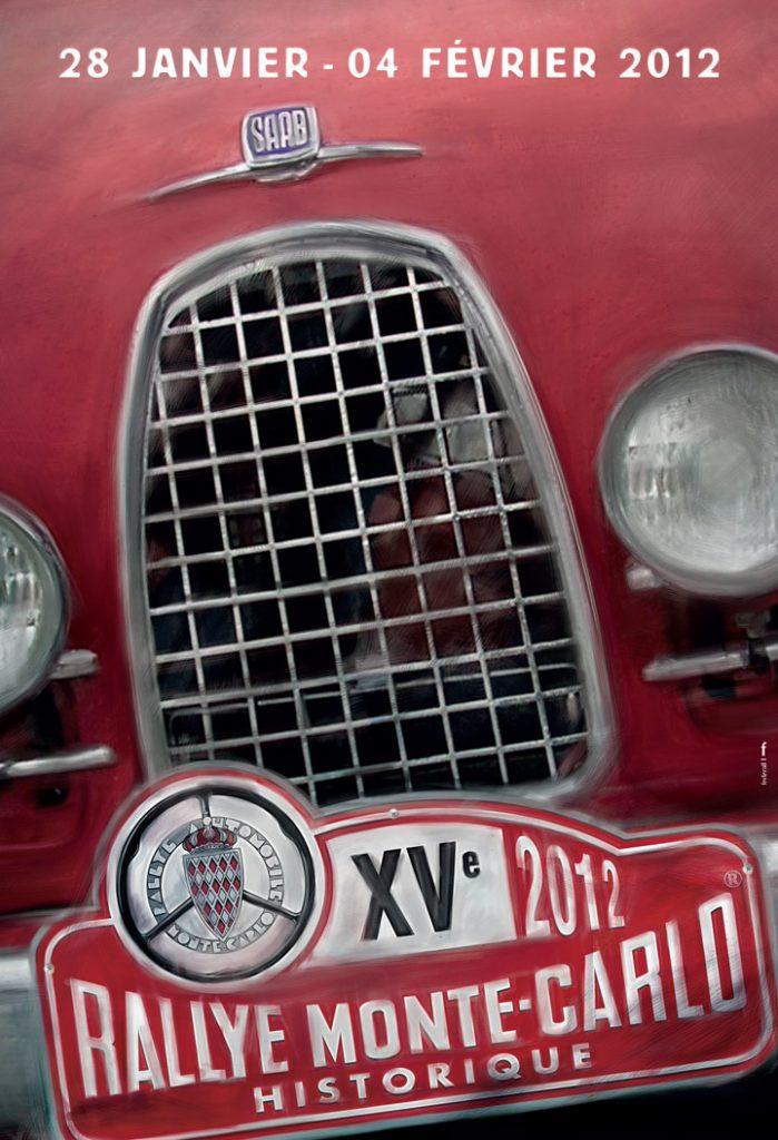 Affiche Rallye Monte-Carlo Historique 2012