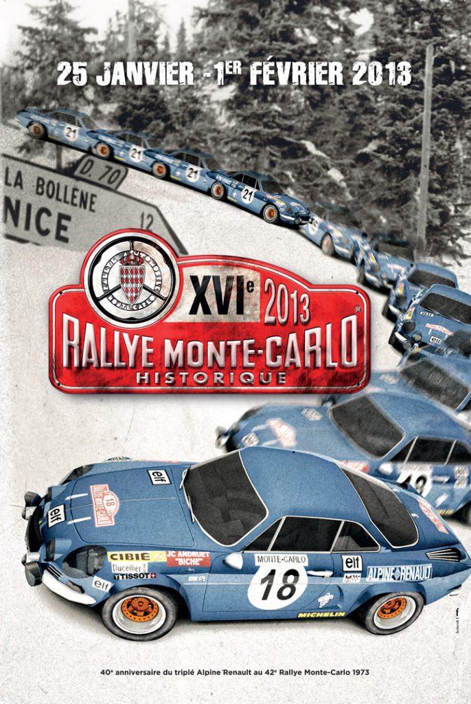 Affiche Rallye Monte-Carlo Historique 2013