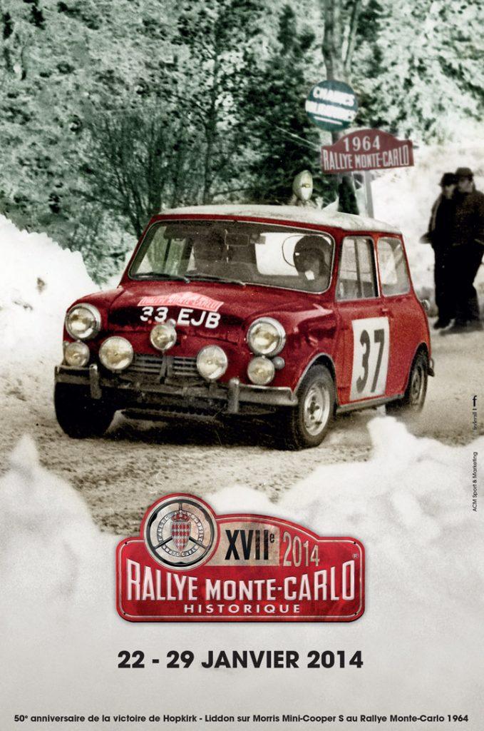 Affiche Rallye Monte-Carlo Historique 2014