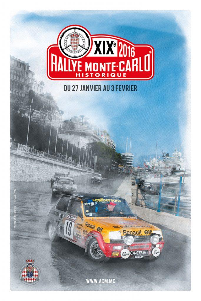 Affiche Rallye Monte-Carlo Historique 2016