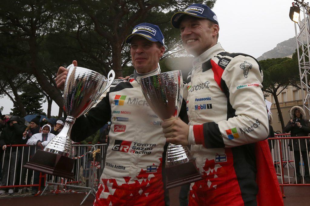 latvala jm anttila m (fin) toyota yaris WRC+ n°10 2017 portrait podium RMC (JL) -50