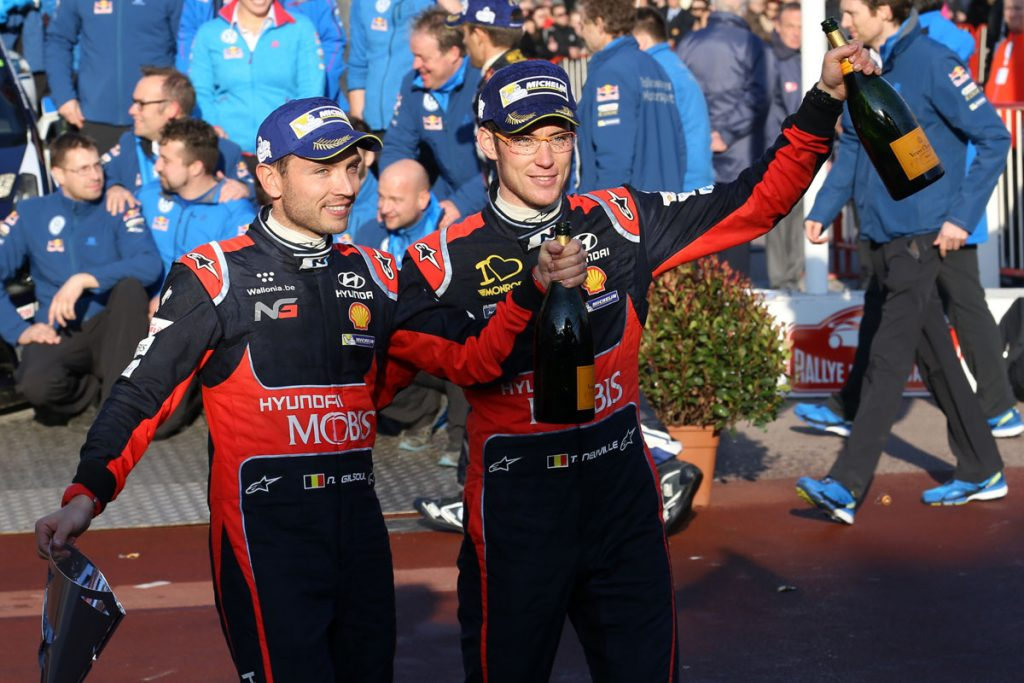 neuville t gilsoul n (bel) hyundai I20 WRC n°3 2016 portrait podium RMC (JL) -62  © Jo Lillini