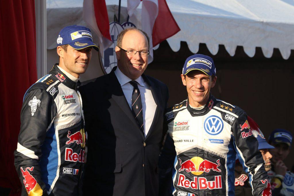 ogier s ingrassia j (fra) VW polo R WRC n°1 2016 portrait podium RMC (JL) -61  © Jo Lillini