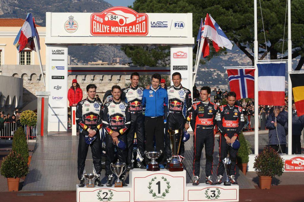 ogier s ingrassia j (fra) VW polo R WRC n°1 2016 portrait podium RMC (JL) -64  © Jo Lillini