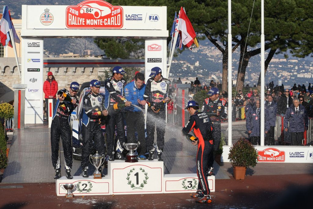 ogier s ingrassia j (fra) VW polo R WRC n°1 2016 portrait podium RMC (JL) -67  © Jo Lillini