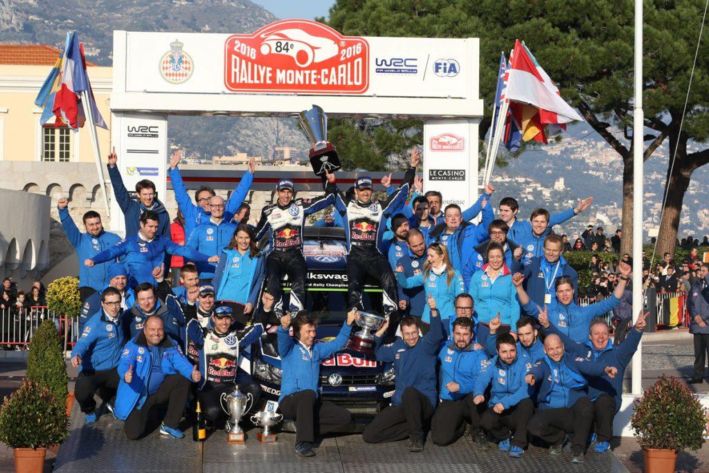 ogier s ingrassia j (fra) VW polo R WRC n°1 2016 portrait podium RMC (JL) -69  © Jo Lillini