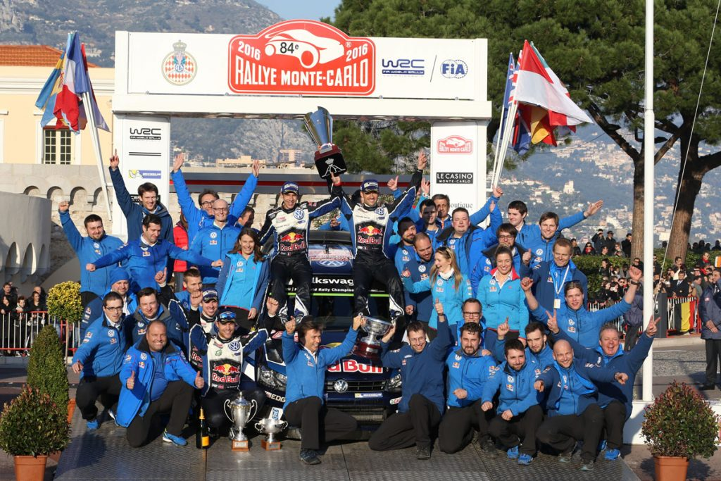 ogier s ingrassia j (fra) VW polo R WRC n°1 2016 portrait podium RMC (JL) -69