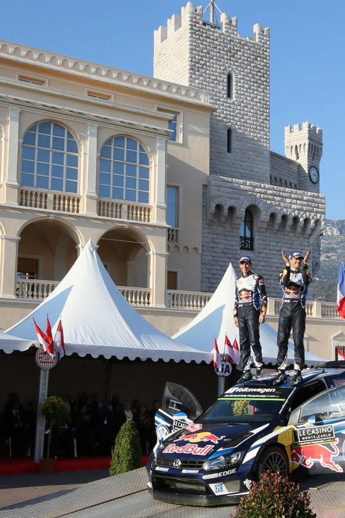 ogier s ingrassia j (fra) VW polo R WRC n°1 2016 portrait podium RMC (JL) -71  © Jo Lillini