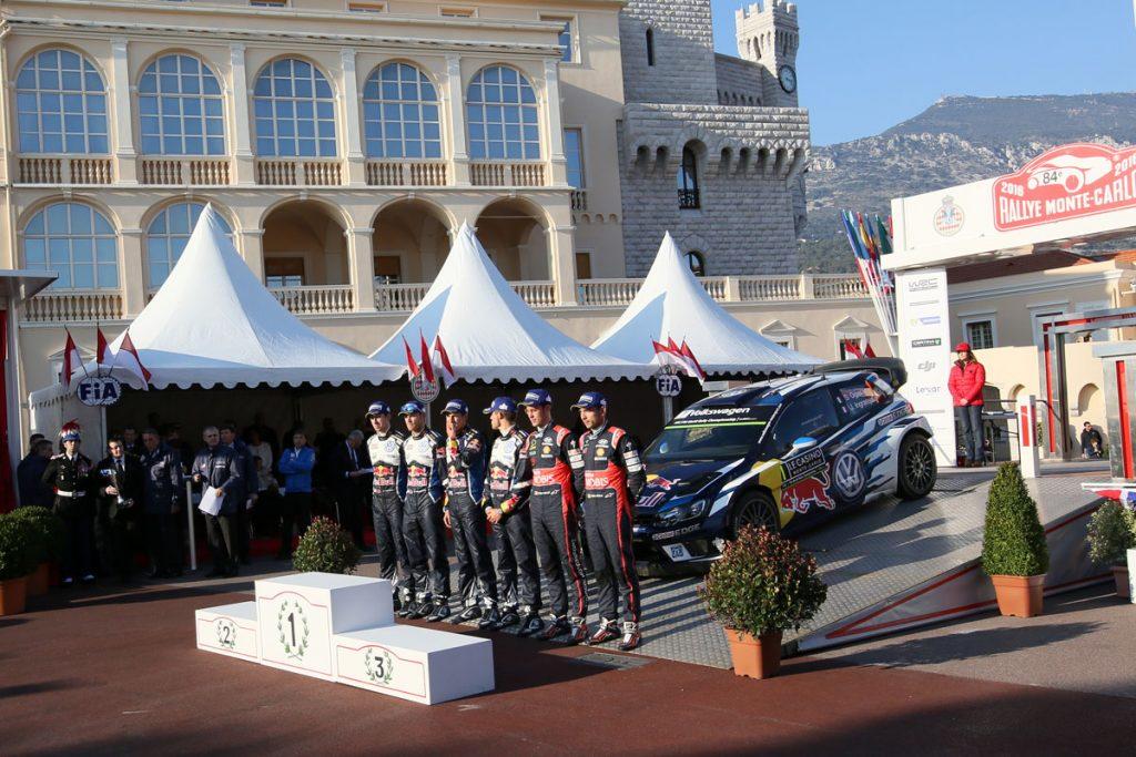 ogier s ingrassia j (fra) VW polo R WRC n°1 2016 portrait podium RMC (JL) -72  © Jo Lillini