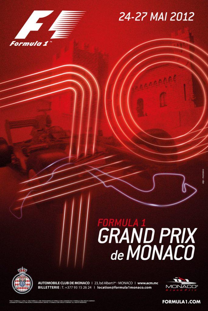Affiche Grand Prix de Monaco F1 2012