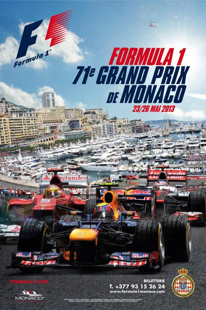 Affiche Grand Prix de Monaco F1 2013