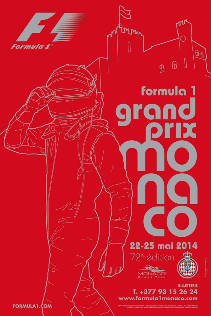 Affiche Grand Prix de Monaco F1 2014