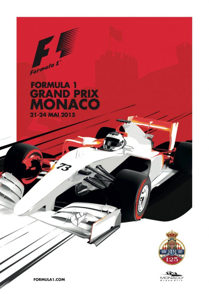 Affiche Grand Prix de Monaco F1 2015