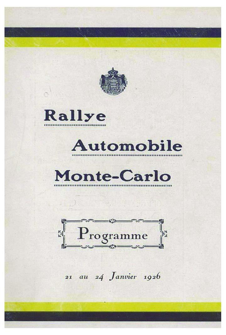 RALLYE MONTE-CARLO 1926