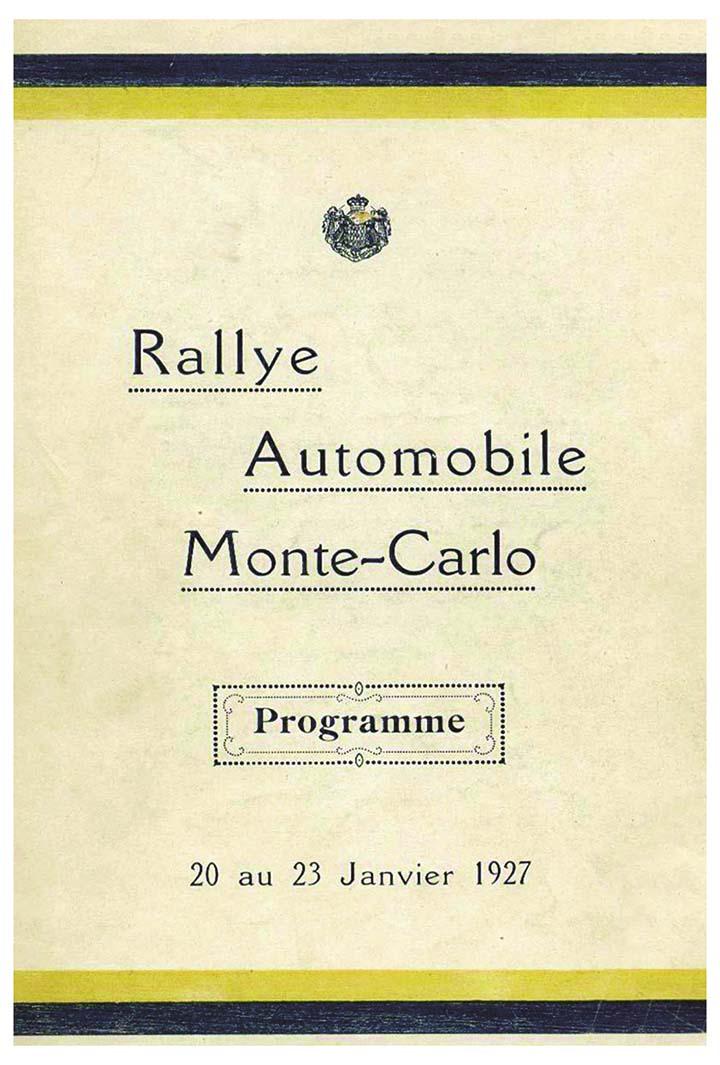 RALLYE MONTE-CARLO 1927