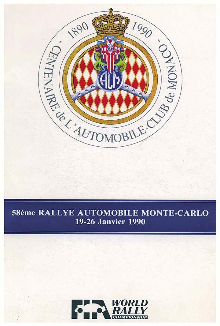 RALLYE MONTE-CARLO 1990