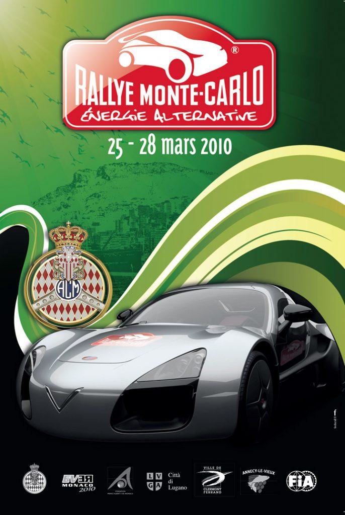 Affiche E-Rallye Monte-Carlo 2010