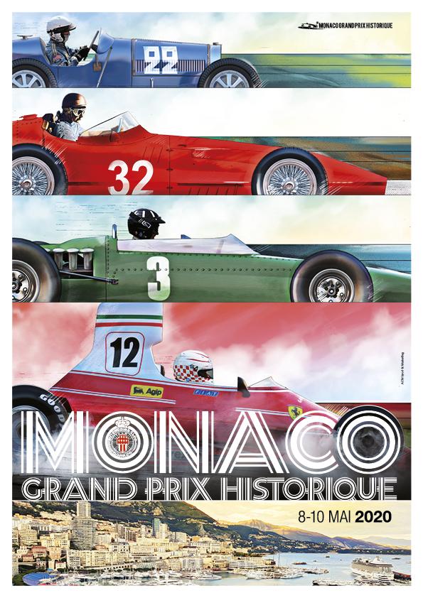 Affiche Grand Prix de Monaco Historique 2020