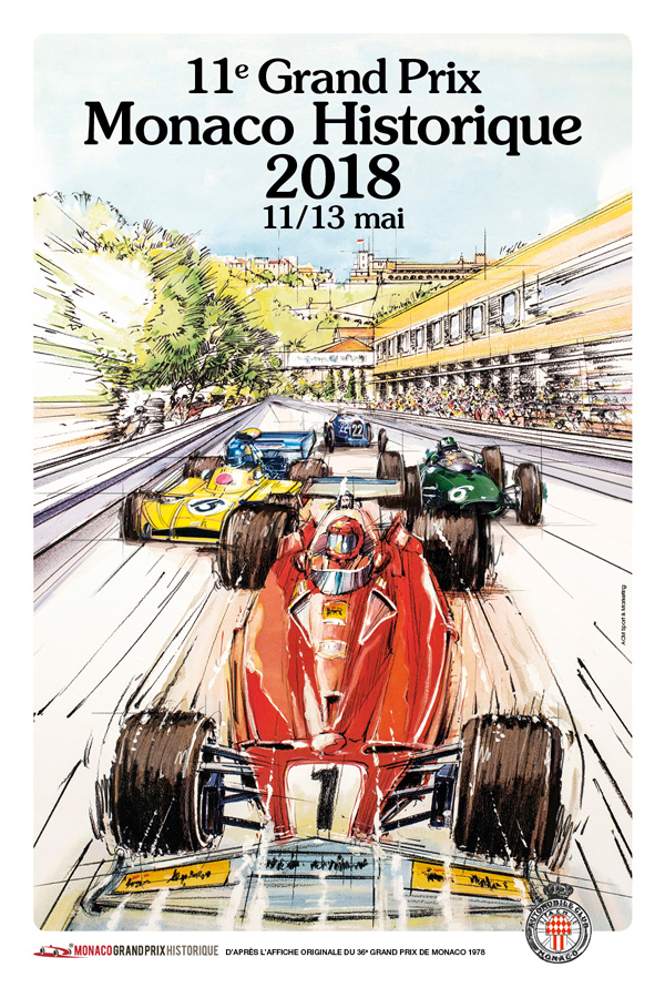 Affiche Grand Prix de Monaco Historique 2018