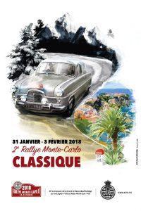 affiche Rallye Monte-Carlo Classique 2018