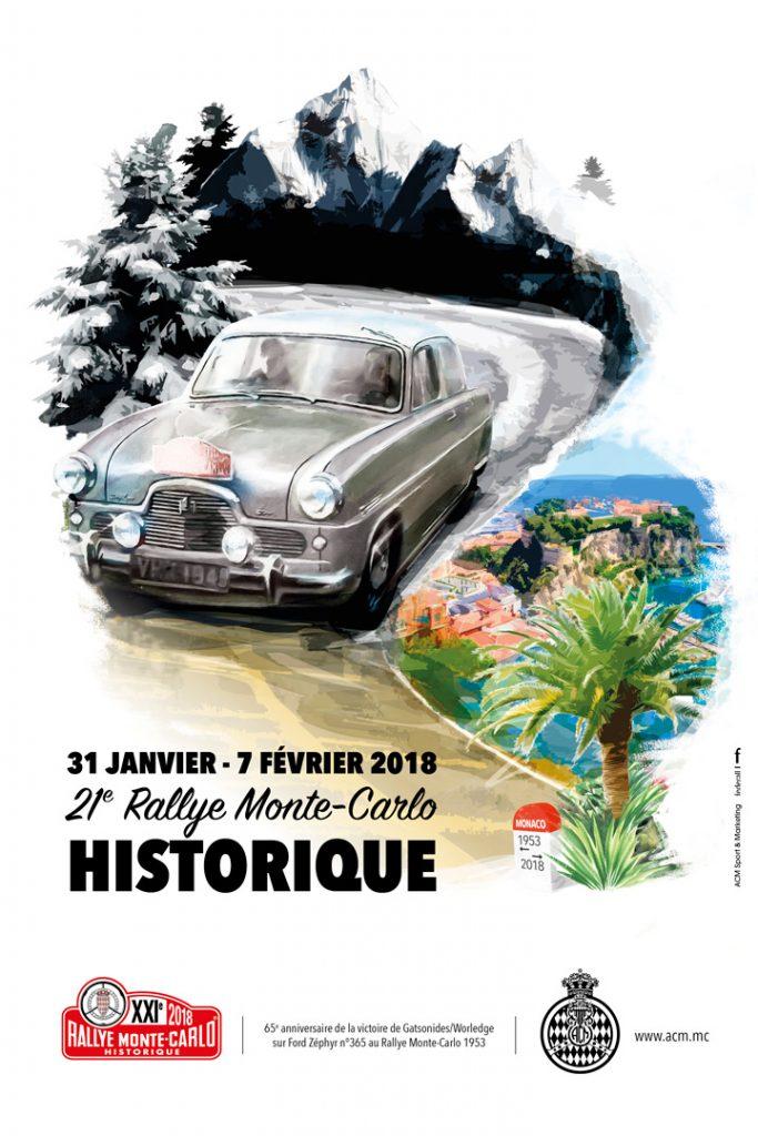 Affiche Rallye Monte-Carlo Historique 2018