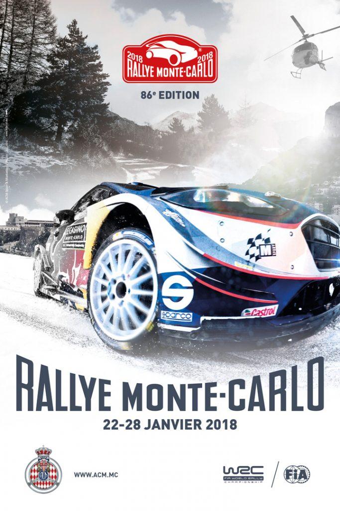 Affiche Rallye Monte-Carlo 2018