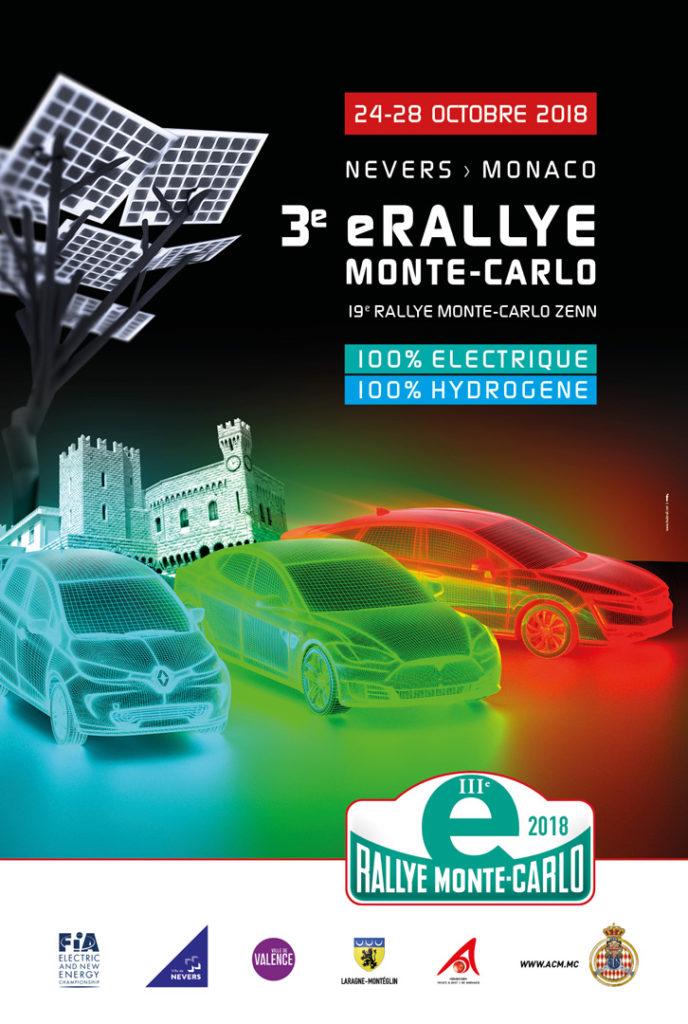 Affiche E-Rallye Monte-Carlo 2018