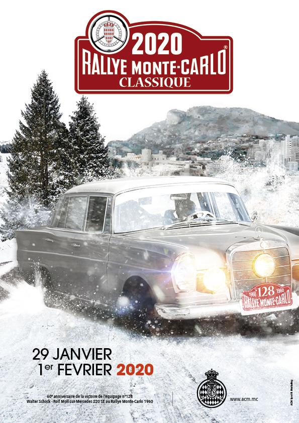 Affiche Rallye Monte-Carlo Classique 2020
