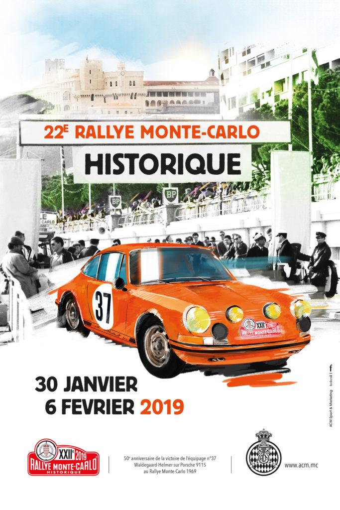 Affiche Rallye Monte-Carlo Historique 2019