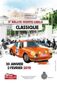 affiche Rallye Monte-Carlo Classique 2019