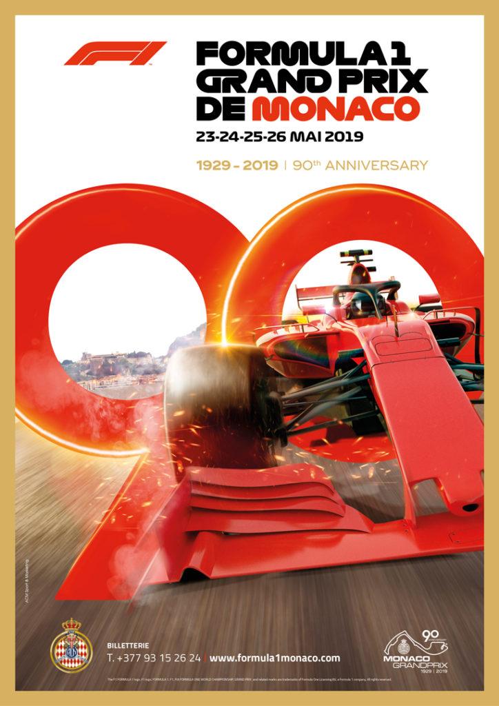 Affiche Grand Prix de Monaco F1 2019